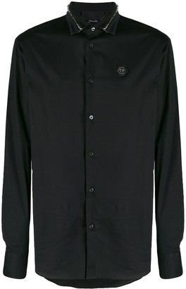 Philipp Plein Studded Collar Shirt
