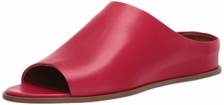 Aquatalia Anne Nappa Slide Red