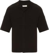 Balenciaga Notch-collar wool-knit shirt