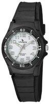 Laurens Women's VP60J900Y Resin Analog Black Rubber Strap White Dial Watch