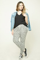Forever 21 FOREVER 21+ Plus Size Marled Sweatpants