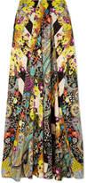 Etro Printed Silk-jacquard Maxi Skirt - Yellow