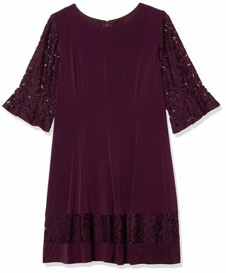 Jessica Howard JessicaHoward Plus Size Womens Lace Bell Sleeve Fit and Flare Dress
