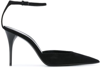 Saint Laurent Pointed Ankle Strap Pumps