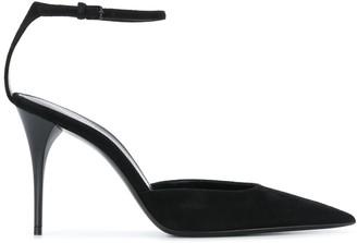 Saint Laurent pointed ankle strap pumps