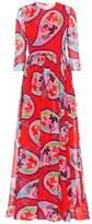 DELPOZO Printed silk maxi dress
