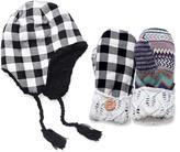 Muk Luks Buffalo Plaid Festival Helmet And Potholder Mittens Set