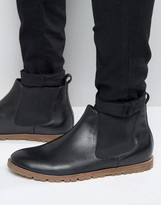 Frank Wright Chelsea Boots In Black Leather