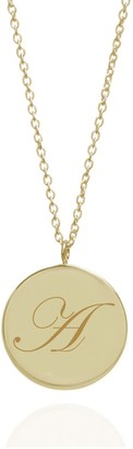 Myia Bonner Initial A Edwardian Pendant In 9K Yellow Gold