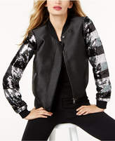 Sachin + Babi Sb by Sequin-Sleeve Bomber Jacket, Created for Macy's