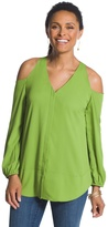 Chico's Cold Shoulder Blouse In Kiwi