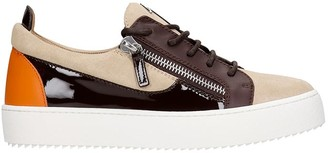 Giuseppe Zanotti Gail Sneakers In Beige Synthetic Fibers