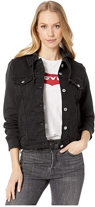 Levi's(r) Womens New Hybrid Original Trucker (Ink) Women's Clothing