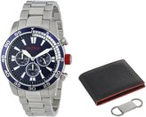 Redline Red Line Men's RL-60007-SET Cruiser Chronograph Dark Dial Stainless Steel Watch Set