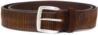 Orciani Stitched-Stripe Pattern Belt