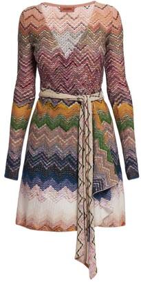 Missoni Chevron Knit Wrap Dress