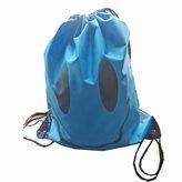 Thinkbay Unisex Kids PE Sport Swimming Gym Beach Travel Drawstring Backpack Bag Pouch Sac Emoticon Red