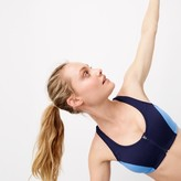 J.Crew New Balance for performance zip-front sports bra in colorblock