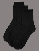 Autograph 3 Pair Pack Merino Wool Rich Ankle High Socks