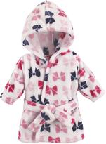 Hudson Baby Pink Bows Plush Hooded Bath Robe
