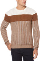 Perry Ellis Striped Colorblock Sweater