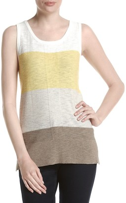 Jones New York Women's Color Blocked Sweater Tank