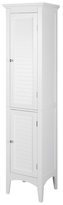 Elegant Home Fashions Slone Linen Tower with Two Shutter Doors
