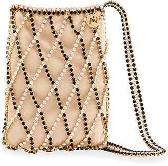 Rosantica Greta Crystal Caged Shoulder Bag