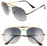 Ray-Ban Women's 57Mm Aviator Sunglasses - Bronze