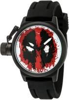 Marvel Men's 'Deadpool' Quartz Metal and Rubber Automatic Watch, Color: (Model: W002849)