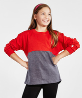 Soffe Red & Heather Gray Crewneck Top - Girls