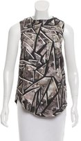 Wayne Sleeveless Printed Silk Top