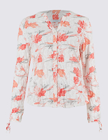 Classic Cotton Rich Floral Print Long Sleeve Shirt