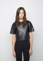 Alexander Wang Cropped Leather Tee