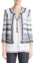 St. John Tajdar Fringe Tweed Jacket