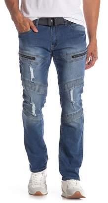 """X-Ray XRAY Distressed Pintuck Pleated Jeans - 30-32\"""" Inseam"""
