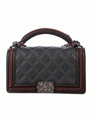Chanel Medium Boy Chain Handle Bag Grey