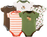 Luvable Friends Green & Brown Moose Bodysuit Set - Infant