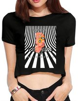 Asdafa Cage The Elephant Melophobia Lady Funny Sexy Crop Top T Shirt