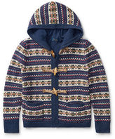 Ralph Lauren 7-16 Fair Isle Hooded Sweater