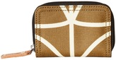 Orla Kiely Matt Laminated Giant Linear Stem Print Medium Zip Wallet