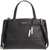 Calvin Klein Triple Compartment Premium Leather Satchel