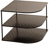 Seville Classics 3-Tier Corner Shelf Counter & Cabinet Organizer, Gun Metal