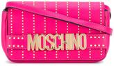 Moschino studded Letters crossbody bag - women - Calf Leather - One Size