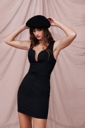 Nasty Gal Womens Cup All Night Plunging Mini Dress - Black