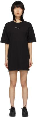 Champion Reverse Weave Black Central Script Logo Dress