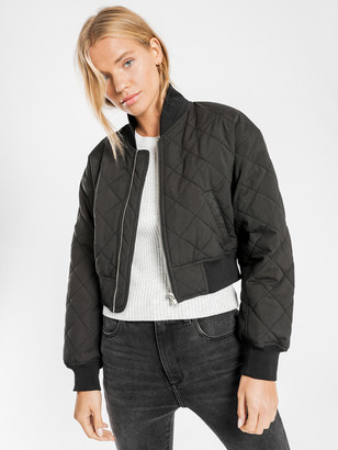Nude Lucy Classic Bomber Jacket in Black