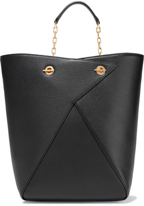 THE VOLON Mani Shopper Smooth And Textured-leather Tote