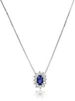 Tagliamonte Incanto Royale Diamond and Sapphire Drop 18K Gold Necklace