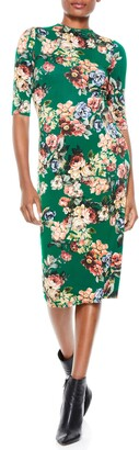 Alice + Olivia Delora Mock Neck Body-Con Dress